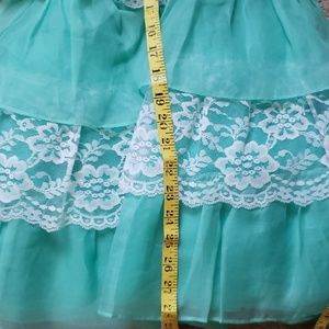 Betsey Johnson Dresses - Betsey Johnson Mint and White Lace Party Dress